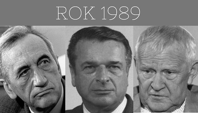 Premierzy roku 1989: Rakowski, Kiszczak, Mazowiecki